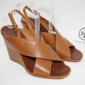 TORY BURCH GABRIELLE 10mm WEDGE Crisscross Sandals
